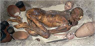 dehydrated the bodies quickly creating lifelike and natural mummies